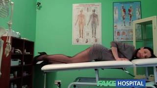FakeHospital G spot massage gets hot brunette wet