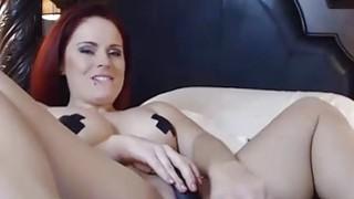 OMBFUN.com BIG SQUIRT @ 6-15 Titty Brunette Huge Cum Orgasm OhMiBod Vibrator